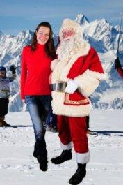 mooie echte kerstman